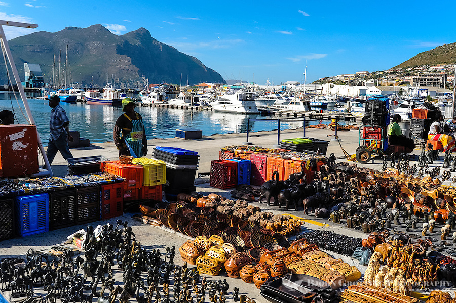 Hout Bay a coastal suburb of Cape Town, South Africa. The harbour.