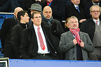 Lincoln City chairman Clive Nates, left, with Roger Bates<br /> <br /> Photographer Andrew Vaughan/CameraSport<br /> <br /> Emirates FA Cup Third Round - Everton v Lincoln City - Saturday 5th January 2019 - Goodison Park - Liverpool<br />  <br /> World Copyright &copy; 2019 CameraSport. All rights reserved. 43 Linden Ave. Countesthorpe. Leicester. England. LE8 5PG - Tel: +44 (0) 116 277 4147 - admin@camerasport.com - www.camerasport.com