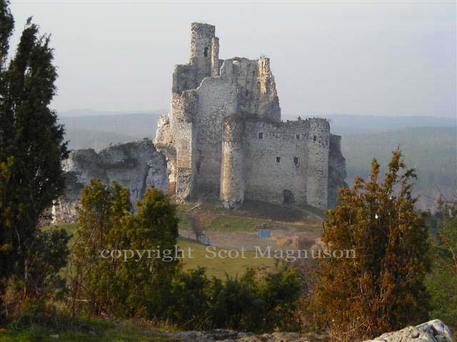 The Mirow Castle - a castle built of limestone in the middle of the 14th century in the territory of the Polish Jura Chain, in the village of Mirow.