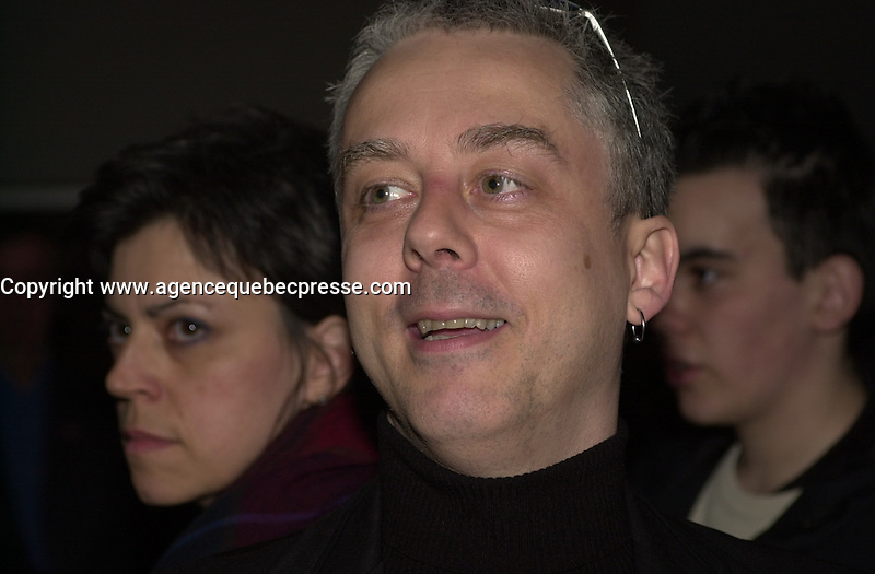 Erik Canuel, director of <br /> Le Dernier Tunnel, March 8 2004. Photo P Roussel