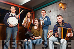 +++Reproduction Free+++<br /> Launch of the 21st Fleadh By The Feale, The Cellar Bar, Abbeyfeale last Thursday night, pictured l-r: John Ford(Abbeyfeale), Jackie Murphy(Abbeyfeale), Maura O'Connor(Abbeyfeale), Mich&aacute;el Broderick(Abbeyfeale) and David Healy(Knocknasna).<br /> Pic Credit: JDM Photography.ie