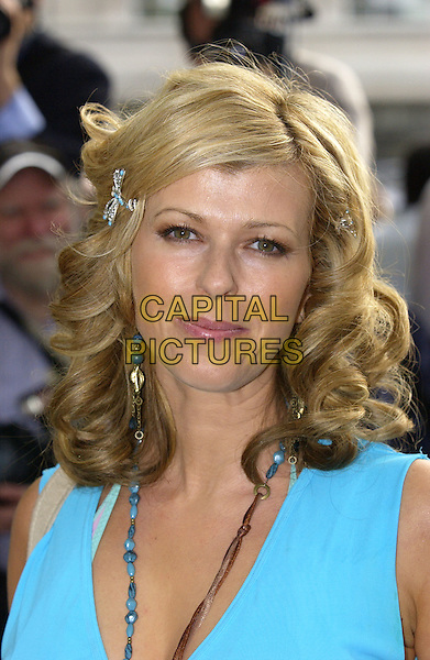 KATE GARRAWAY.Attends the Glamour Women of the Year Awards 2005,.Berkeley Square, London, .June 7th 2005..portrait headshot  turquoise dress beads necklace dragonfly hair clip slide accessory.Ref: FIN.www.capitalpictures.com.sales@capitalpictures.com.©Steve Finn/Capital Pictures.