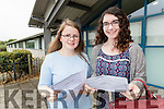 Students from Mercy Mounthawk Secondary School, Tralee, who received their Leaving Certificate results on Wednesday morning were l-r: TAmsin Stack and Alannah McElligott.