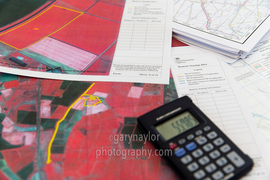 Rural Payments Agency remote sensing, desktop monitoring of farms using satellite mapping