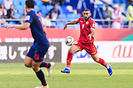 Mahdi Faisal Alhumaidan of Bahrain (R) in action during the AFC Asian Cup UAE 2019 Group A match between Bahrain (BHR) and Thailand (THA) at Al Maktoum Stadium on 10 January 2019 in Dubai, United Arab Emirates. Photo by Marcio Rodrigo Machado / Power Sport Images