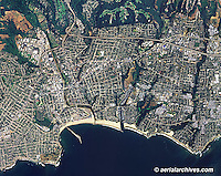 aerial photo map Santa Cruz, California