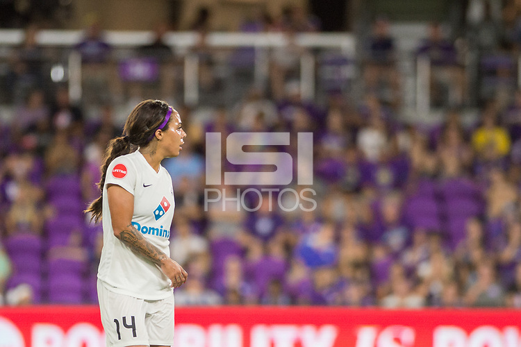 Orlando, FL - Saturday July 15, 2017: Sydney Leroux during a regular season National Women's Soccer League (NWSL) match between the Orlando Pride and FC Kansas City at Orlando City Stadium.