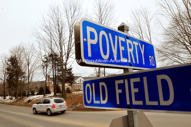 SOUTHBURY, CT-05 FEBRUARY 2009-020510JS08- A local resident wants to change the name of Poverty Road in Southbury to Indian Hills. <br /> Jim Shannon Republican-American