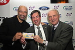 Paul McGrath, Nicky Smith and Giovanni Trapattoni at the Launch of the Monster Car Draw in aid of the Gary Kelly Centre at Smiths Garage....Photo NEWSFILE/Jenny Matthews.