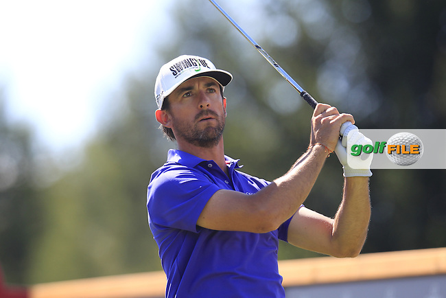 Wade Ormsby (AUS) tees off the 16th tee during Saturday's Round 3 of the 2014 Omega European Masters held at the Golf Club Crans-sur-Sierre, Crans Montana, Switzerland.: Picture Eoin Clarke, www.golffile.ie: 6th September 2014
