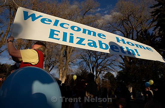 Salt Lake City throws a party to celebrate the return of Elizabeth Smart Friday night at Liberty Park.; 03.14.2003, 5:55:05 PM<br />