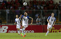 Panama City, Panama - March 28, 2017: The U.S. Men's National team take the lead 1-0 over Panama from a goal by Clint Dempsey during first half play in a 2018 World Cup Qualifying Hexagonal match at Estadio Rommel Fernandez.