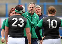Ireland's Head Coach Tom Tierney during the pre match warm up<br /> <br /> Photographer Ian Cook/CameraSport<br /> <br /> Women's Six Nations Round 4 - Wales Women v Ireland Women - Saturday 11th March 2017 - Cardiff Arms Park - Cardiff<br /> <br /> World Copyright &copy; 2017 CameraSport. All rights reserved. 43 Linden Ave. Countesthorpe. Leicester. England. LE8 5PG - Tel: +44 (0) 116 277 4147 - admin@camerasport.com - www.camerasport.com