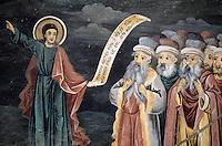 Bulgarien, Batschkovo-Kloster, Freske von Sograf: Jüngstes Gericht über die Oberschichicht von Plovdiv