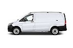 Car driver side profile view of a 2019 Mercedes Benz Metris Base 5 Door Cargo Van