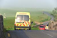 Ambulance near Whitewell, Lancashire....Copyright..John Eveson, Dinkling Green Farm, Whitewell, Clitheroe, Lancashire. BB7 3BN.01995 61280. 07973 482705.j.r.eveson@btinternet.com.www.johneveson.com