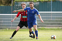 James Barlow of Redbridge and Jamie Riley of Saffron Walden during Redbridge vs Saffron Walden Town, Essex Senior League Football at Oakside Stadium on 7th September 2019