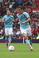 Men's Olympic Football match Spain v Japan on 26.7.12...Rodrigo of Spain, during the Spain v Japan Men's Olympic Football match at Hampden Park, Glasgow..................