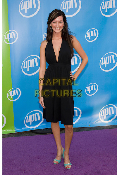 NORELLE VAN HERK.UPN Summer Press Tour Party .Paramount Studios.Los Angeles, 21st July 2005.full length full-length black v-neck dress turquoise shoes.www.capitalpictures.com.sales@capitalpictures.com.© Capital Pictures.