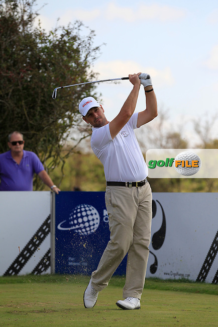 David Higgins (IRL) on the 3rd tee during Round 2 of the KLM Open at Kennemer Golf &amp; Country Club on Friday 12th September 2014.<br /> Picture:  Thos Caffrey / www.golffile.ie