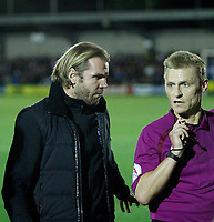 Milton Keynes Dons manager, Robbie Nelson seen during the Sky Bet League 1 match between AFC Wimbledon and MK Dons at the Cherry Red Records Stadium, Kingston, England on 22 September 2017. Photo by Carlton Myrie / PRiME Media Images.