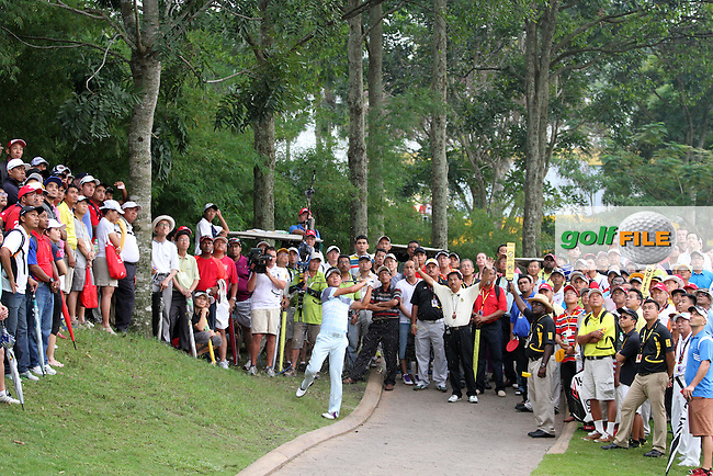 Wu Ashun (CHN) on the 16th during the resumed Round 3 of the 2013 Maybank Malaysian Open, Kuala Lumpur Golf and Country Club, Kuala Lumpur, Malaysia 24/3/13...(Photo Jenny Matthews/www.golffile.ie)