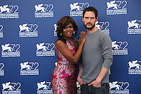 Edwina Findley and director Jake Mahaffy attend a photocall for the movie 'Free In Deed' during the 72nd Venice Film Festival at the Palazzo Del Cinema in Venice, Italy, September 11, 2015.<br /> UPDATE IMAGES PRESS/Stephen Richie