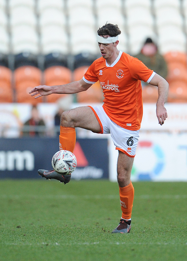 Blackpool's Ben Heneghan<br /> <br /> Photographer Kevin Barnes/CameraSport<br /> <br /> Emirates FA Cup Second Round - Blackpool v Maidstone United - Sunday 1st December 2019 - Bloomfield Road - Blackpool<br />  <br /> World Copyright © 2019 CameraSport. All rights reserved. 43 Linden Ave. Countesthorpe. Leicester. England. LE8 5PG - Tel: +44 (0) 116 277 4147 - admin@camerasport.com - www.camerasport.com