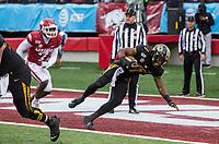 Hawgs Illustrated/BEN GOFF <br /> Tyler Badie, Missouri running back, scores a touchdown in the third quarter vs Arkansas Saturday, Nov. 29, 2019, at War Memorial Stadium in Little Rock.