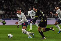 England Under 21's defender Max Aarons (2) cuts off the ball during the UEFA Euro U21 Qualifying match between England U21 & Kosovo U21 at KCOM Craven Park, Hull, England on 9 September 2019. Photo by Stephen Buckley / PRiME Media Images.