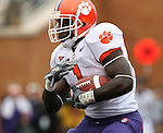 07 October 2006: Clemson's James Davis. The Clemson University Tigers defeated the Wake Forest University Demon Deacons 27-17 at Groves Stadium in Winston-Salem, North Carolina in an Atlantic Coast Conference NCAA Division I College Football game.
