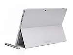 Microsoft Surface Pro 3 tablet computer rear view isolated on white background