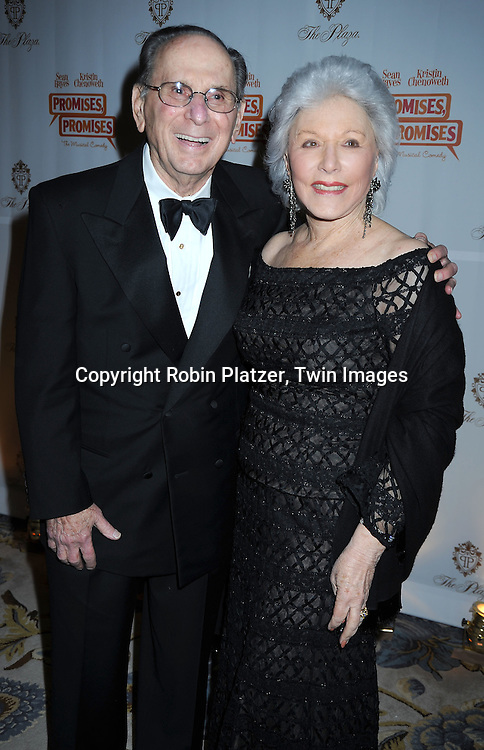 "Hal David and wife Eunice arriving at The Broadway Opening Night party of the revival of ""Promises, Promises"" on April  25, 2010 at The Plaza Hotel  in New York City."