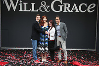 UNIVERSAL CITY, CA - AUGUST 2: Sean Hayes, Debra Messing, Megan Mullally and Eric McCormack at the Will & Grace Start Of Production Kick-Off Event at Universal City Plaza, California on August 2, 2017. Credit: Faye Sadou/MediaPunch