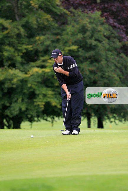 Alan Lowry (Esker Hills) on the 2nd during round 1 of The Mullingar Scratch Cup in Mullingar Golf Club on Sunday 3rd August 2014.<br /> Picture:  Thos Caffrey / www.golffile.ie