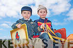 Brothers Jack and Killian Keogh, Tournafulla enjoying the rides at the Kingdom County Fair on Sunday.