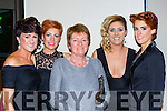 Aileen Moriarty, Marie Divane, Marian Collins, Sinead Collins and Mary T Moriarty Kilcummin at the Irish Cancer society Strictly Come Dancing in the INEC on Friday night