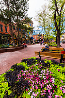 Pearl Street Mall is a four block pedestrian mall in Boulder, Colorado USA. The pedestrian area stretches from 11th Street to 15th Street along Pearl Street and is home to a number of businesses and restaurants as well as the Boulder County Courthouse.