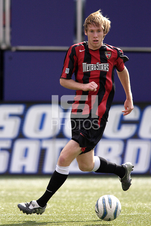 The MetroStars' Tim Ward. The San Jose EarthQuakes defeated the MetroStars 1 - 0 at Giant's Stadium, East Rutherford, NJ, on Saturday May 7, 2005.