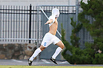 29 August 2014: North Carolina's Tyler Engel celebrates his goal. The University of North Carolina Tar Heels hosted the University of California Bears at Fetzer Field in Chapel Hill, NC in a 2014 NCAA Division I Men's Soccer match. North Carolina won the game 3-1.
