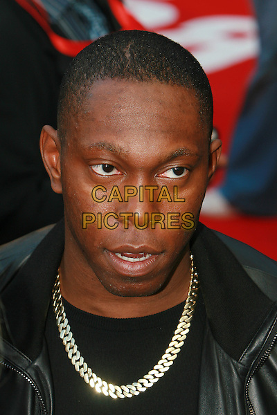 "DIZZEE RASCAL (Dylan Kwabena Mills).Gala Film Premiere of ""The Karate Kid"", Odeon Leicester Square, London, England, UK, 15th July 2010..arrivals portrait headshot chain necklace black .CAP/MAR.© Martin Harris/Capital Pictures."