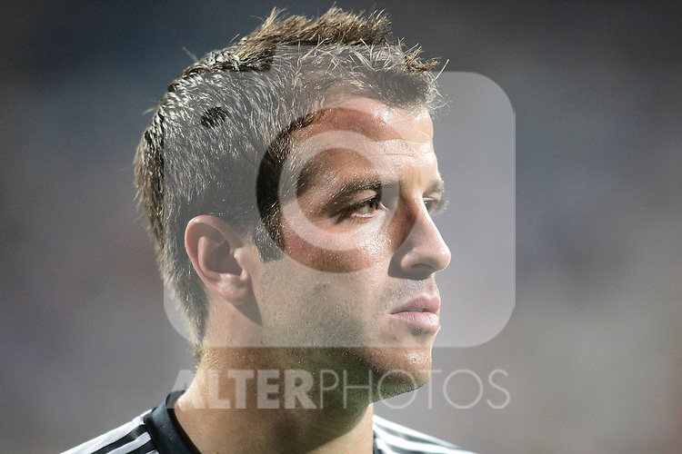 Real Madrid's Rafael van der Vaart during warm up. August 24, 2010. (ALTERPHOTOS/Alvaro Hernandez)