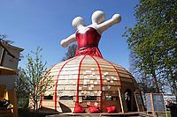 Nederland - Leeuwarden - april 2018. Leeuwarden Culturele Hoofdstad van Europa 2018. Talenpaviljoen MeM in de Prinsentuin.   Foto Berlinda van Dam / Hollandse Hoogte