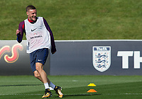 Jamie Vardy during the part open training session of the  England national football squad at St George's Park, Burton-Upon-Trent, England on 31 August 2017. Photo by James Williamson.