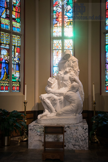 August 25, 2017; ND Trail day 12: Pieta in the Basilica of the Sacred Heart. (Photo by Matt Cashore/University of Notre Dame)