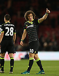 David Luiz of Chelsea celebrates the win during the English Premier League match at the Riverside Stadium, Middlesbrough. Picture date: November 20th, 2016. Pic Simon Bellis/Sportimage