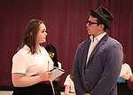 Maddi O'Connell and Dominic Wintz during the Children's Theatre of Cincinnati presentation for composer Charles Strouse of 'Superman The Musical' at Ripley Grier Studios on June 8, 2018 in New York City.