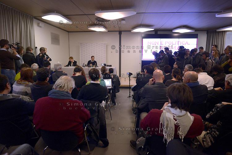 Roma, 8 Aprile 2013.Eataly..Conferenza stampa del candidato a Sindaco di Roma Ignazio Marino, dopo la vittoria alle primarie del centro sinistra