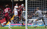 Blackburn Rovers' Darragh Lenihan has a header at goal<br /> <br /> Photographer Rachel Holborn/CameraSport<br /> <br /> The EFL Sky Bet Championship - Blackburn Rovers v Aston Villa - Saturday 15th September 2018 - Ewood Park - Blackburn<br /> <br /> World Copyright &copy; 2018 CameraSport. All rights reserved. 43 Linden Ave. Countesthorpe. Leicester. England. LE8 5PG - Tel: +44 (0) 116 277 4147 - admin@camerasport.com - www.camerasport.com