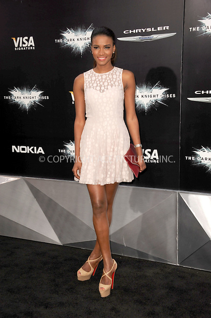 WWW.ACEPIXS.COM . . . . . .July 16, 2012...New York City....Leila Lopes  attends 'The Dark Knight Rises' New York Premiere at AMC Lincoln Square Theater on July 16, 2012 in New York City ....Please byline: KRISTIN CALLAHAN - ACEPIXS.COM.. . . . . . ..Ace Pictures, Inc: ..tel: (212) 243 8787 or (646) 769 0430..e-mail: info@acepixs.com..web: http://www.acepixs.com .